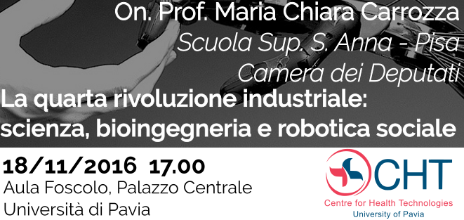 Seminar - 2016/11/18 - The fourth industrial revolution: science' bioengineering and social robotics